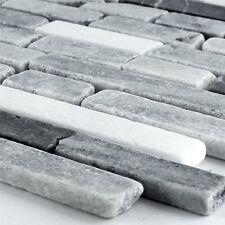 Marmormosaik Mosaik Fliesen Schwarz Grau Mix