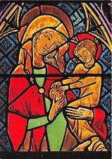 BG11012 madonna oberschwab glasmalerei beuron religion  germany