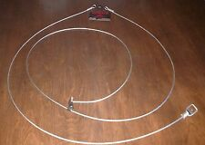 """4 PACK HEAVY DUTY SUPER HOG SNARES 1/8  CABLE 120"""" LONG MID SWIVEL HOG SNARE"""