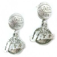 NBA Earrings Utah Jazz Silver Jewelry NEW