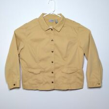 Chicos Mustard Yellow Denim Jacket 3 Embellished