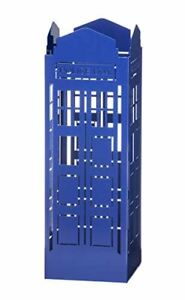 Mango Steam Tall Square Umbrella Holder (Police Box / Tardis Doctor Who), Blue