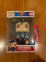 """Funko Pop! Heroes 10"""" Inch Superman #159 Limited Edition CHASE Walmart Exclusive"""