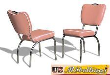 CO26 poussiéreux rose BEL AIR Meuble 2 chaises dîner de cuisine en style Le 50er