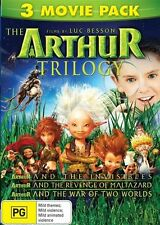 Arthur and the Invisibles Trilogy (3 Movie pack) NEW R4 DVD