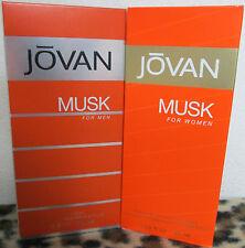 jovan musk (1 men and 1 women)  2 bottles perfume and cologne big bottles