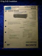 Sony Service Manual TC WE625 /WE725 /WE825S Cassette Deck (#6406)