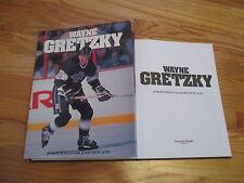 1992 WAYNE GRETZKY Hard Cover Book LOS ANGELES KING EDMONTON OILERS NY RANGERS