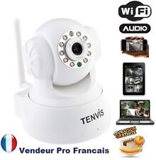 Caméra IP Réseau WIFI Infrarouge Mobile Iphone Ipad Android Mac Tablette Blanc
