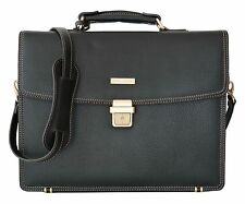 Brooks Brothers Luxury Briefcase Attache Padded Laptop Bag Brown New