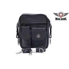 BIKER Motorcycle Unisex Genuine LEATHER Traveling Bag with Spider and Web BAG9