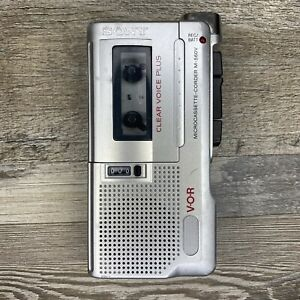 Sony Clear Voice Plus M-560V Microcassette Recorder Vintage For Parts Or Repair