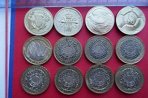 1986 to 2018 Selected Circulated Two Pound coins - Mostly Good Extra Fine