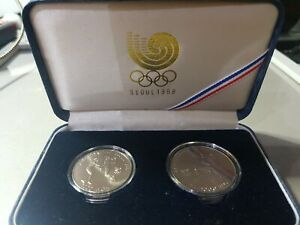 SEOUL 1988 OLYMPIC SPECIAL COINS SET South Korea coin BRAND NEW WITH CASE