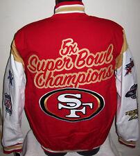 "NFL. San Francisco 49ers/""5/""time Super Bowl Cross train glory Jacket.XXL,By GIII"