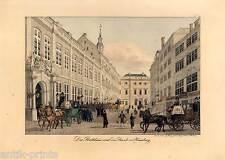 Hamburg-Ayuntamiento-litografía Peter Suhr para 1832