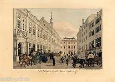 Hamburg - Rathaus - Lithographie Peter Suhr um 1832