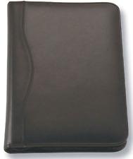 1 x A5 Black Zippered Compendium Genuine Leather Brand New Fast del Aust Wide