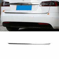 Chrome Rear Door Trunk Lid Tailgate Strip Trim Fit For Tesla Model S 2012-2021