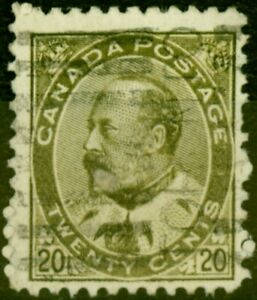 Canada 1904 20c Pale Olive-Green SG185 Fine Used