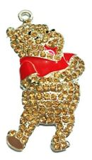 Winnie the Pooh Character Rhinestone Pendant Necklace