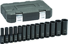 "Gearwrench 14pc 1/2"" dr Metric Deep Impact Socket Set with Case 10-27MM #84955N"