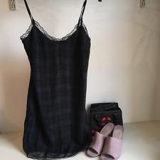 ZARA check tartan and lace slip dress - Size XS
