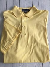 Men's Polo Golf Ralph Lauren Short Sleeve Yellow Cotton Hualalai On Arm Large
