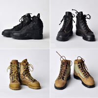 "1/6 Scale Men's Military Combat Boots Shoes Model for 12"" Hot Toys Male Figure"