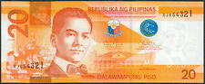 2014-A Philippine 20 Pesos NGS Fancy Serial No. LADDER SM123456 PNoy Banknote
