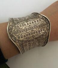 Beautiful Huge Cuff Bracelet Sterling 925 Handmade  Thailand  60g (Y174)
