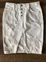 NWT Joe's Jeans White Distressed Denim Skirt Size 24