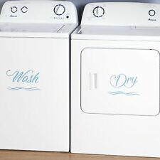 Washing Machine and Dryer Decals - Washer and Dry Appliance Accents