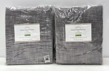 """2 NEW Pottery Barn Seaton Textured 50 x 84"""" Cotton Lined 3-in-1 Drapes~Gray"""