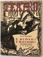 """RSI """"TEATRO E' BUONO? E' MALVAGIO?"""" Denis Diderot Il Dramma volume 15"""