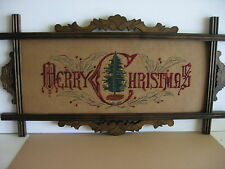 Antique motto sampler Embroidery Kit. Merry Christmas