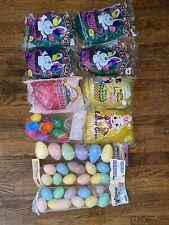 Vintage Easter Eggs And Grass Eggsville Plastic Eggs