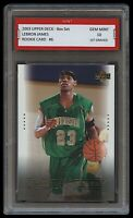 2003 LEBRON JAMES UPPER DECK w/ Irish Jersey 1ST GRADED 10 ROOKIE CARD RC LAKERS