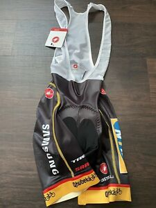 NEW Castelli Free Aero Race Bib Shorts X2 Progetto Medium Qhubeka Tour de France