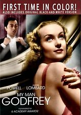 NEW DVD - MY MAN GODFREY - William Powell, Carole Lombard,  RESTORED, REMASTERED