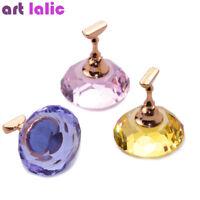 Magnetic Showcase Nail Art UV Gel Polish Holder Crystal Practice Display Stand