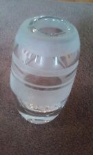 Elegant Hand Blown (Etched) Glass Vase (Must See!!!)