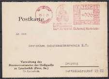 DR 6 Pf. AFS Bad Lauchstädt Verwaltung Heilquelle Firmen Karte - Leipzig 1934