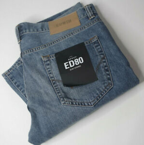 Edwin ED-80 X Mens Slim Tapered Jeans Size Waist W 34 x 32 Leg L Length RRP £120