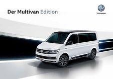 2018 MY Volkswagen Vw Multivan Edition 11 / 2017 catalogue brochure itd edition