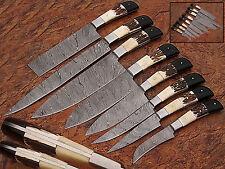 DD/109-8  CUSTOM HAND MADE DAMASCUS BLADE 8 PCS KITCHEN/CHEF KNIFE SET