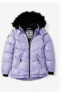 Sizes 6-14 Dress Like Flo Girls Fake Fur Bomber Jacket