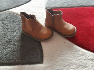MOTHERCARE BROWN BABY ANKLE BOOTS, ZIP FASTENING SIZE 5