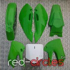 GREEN KLX PIT BIKE PLASTICS SET 110cc 125cc 140cc 160cc PITBIKE