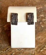 BEAUTIFUL STERLING SILVER 925 MARCASITE OMEGA BACK EARRINGS SPECTACULAR!!!